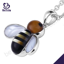 Lovely silver bee for kids christmas gifts funky pendants
