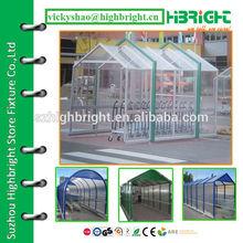 transparent roof house parking shelter
