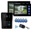 Fashionable and Luxury 7-inch intercom apartment audio door phone Home Security Kit with CCTV Camera
