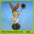 novos produtos de decoração de interiores de alta qualidade bonito coelho metal figuras decorativas