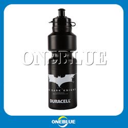 800ML black plastic sport water bottles black plastic bottle