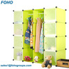 PP Plastic Type and Folding Stocked Feature Plastic Indoor Storage Cabinets