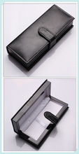 glossy thick PU leather pen for promotion