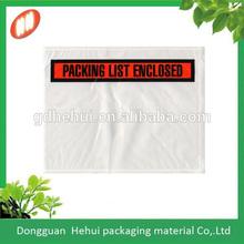 Waterproof document packing list envelope