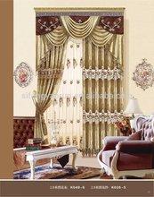 Custom window drapes good quality curtain raw silk fabrics price