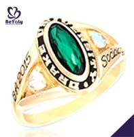 Drake University BA 2015 sociology gold plated rings women