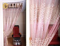 stable window cotton curtain hair salon