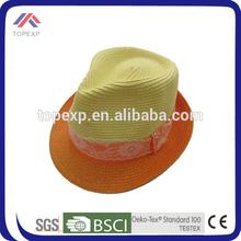 2014 orange straw cowboy hat decoration