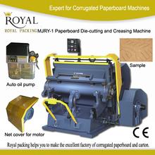 semi automatic paper die cutter and creasing machine
