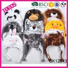 2014 Newest style wholesale child winter cute animal print hats