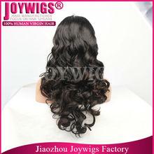 "Popular cheap virgin 18"" natural color human hair grey lace front wig"