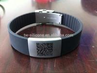 QR Code scannable wristband silicone bracelet