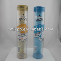 custom design cylindrical plastic box packaging
