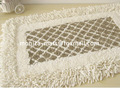 white Color Cotton Shaggy Rugs,100% cotton rug bathroom accessories