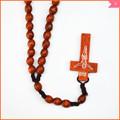 fatto a mano rosario di legno cavo