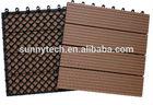 Interlock wpc deck outdoor diy tile floor in China