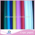 Venda chinês papelcrepe preço de fábrica, preço barato papel crepom cor para o partido