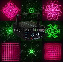 Mini vermelho e verde fogos de artifício partido luz laser/12 gráficos a celebração do feriado de luz laser/atacado loja de luz