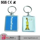 acrylic plastic key chain(blank keyring)
