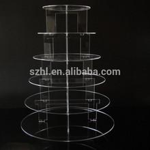 Layers of acrylic circles transparent