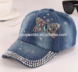 blue jean baseball cap;sports cap