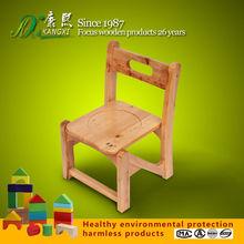 Cheap custom solid cedar kids wooden chair, baby wooden dining chair