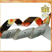 cheap wholesale garment custom polyester dots printed fabric ribbon