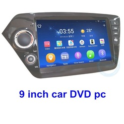 Sunlight readable 1024X600 pixels OEM dvd car audio navigation system 9.0 inch for Kia