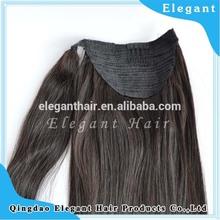26 inch black brazilian remy human hair ponytail high quality