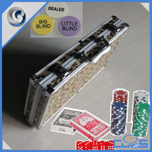 MLD-PC122 Deluxe Beauty Sturdy Aluminum Case for 11.5g 300 Chips Pokers Cards Buttons Dices Set