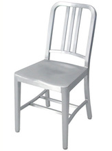 brushed aluminum standard navy chair by Ettore Sottsass