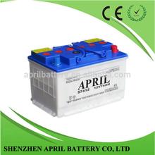 DIN74 12V 74AH Sealed Lead Acid Maintenance Free Starting Dry Car Battery