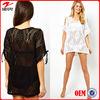 Ladies knitted blouse& women beach wear&bikini smock&The mesh is hollow-out beach garments&Beach petticoat