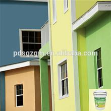 Low-elastic acrylic exterior wall decor emulsion coating