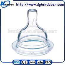 Popular design food grade baby silicone feeder nipples