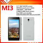 5.5 inch cheap phone quad core 3g gps android smartphone MI3