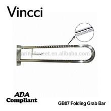 ヴィンチ洗練された304ステンレス鋼フィンガープリント表面折り畳み式ハンディキャップトイレ用手すり