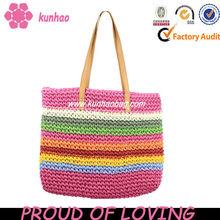 facory dirctly nature raffia straw crochet bag