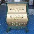 Full house/europeu e americano mobiliário antigo pintado/neo- clássico pós- moderna tirano ouro/com palete de cabeceira