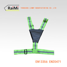 reflective safety belt with elastic reflective tape