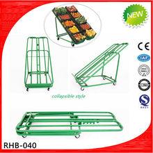 Folding style metal storage vegetables shelf