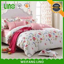 100% cotton pigment print bedding set/girls twin bedding sets/kids bedding comforter sets