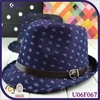 Britpop Men Denim Top Hat Jazz Cap For Ourdoor