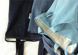 Double Layer handle eco friendly blank cotton canvas shoulder bag tote bag