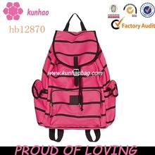 black stripe rose school bag