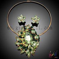 fantasy hot sale exquisite wedding jewelry set/ special zircon African jewelry set