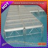 ESI Factory price stage acrylic floor swimming pool glass stage