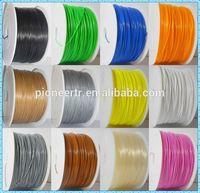 newest version 3d printer filament solid plastic rods flexible rubber filament filament