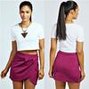 China wholesale clothing pleated wrap fashion designer ladies skirts