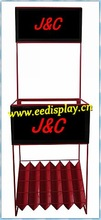 custom iron umbrella display for supermarket retail / metal display stand / steel shop display furniture